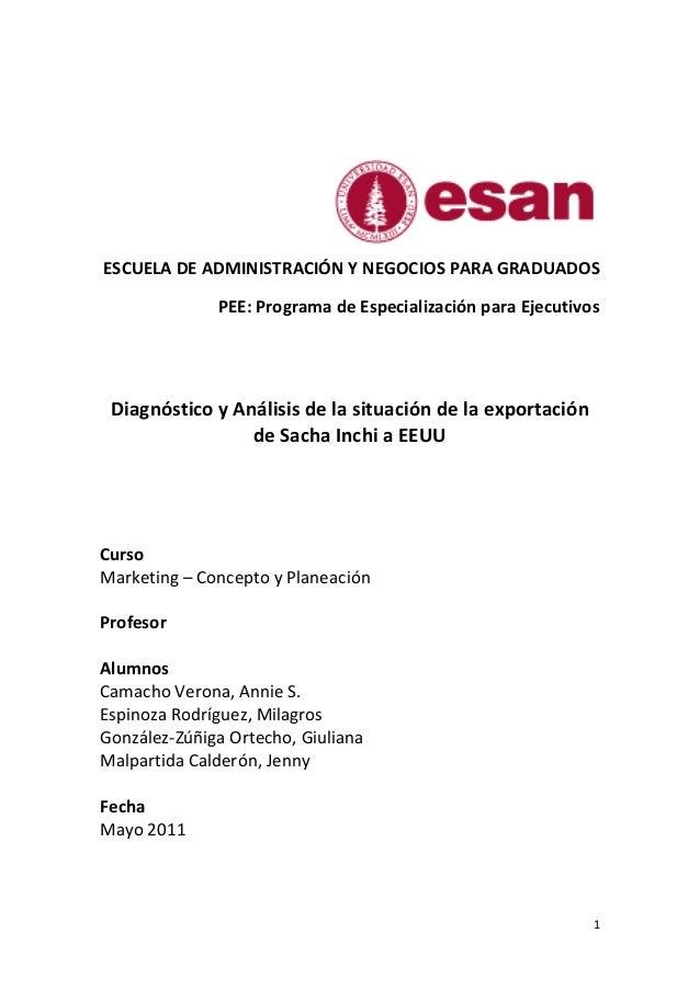 Curso: Marketing – Concepto y Planeación                                                   Tema: Diagnóstico y Análisis de...