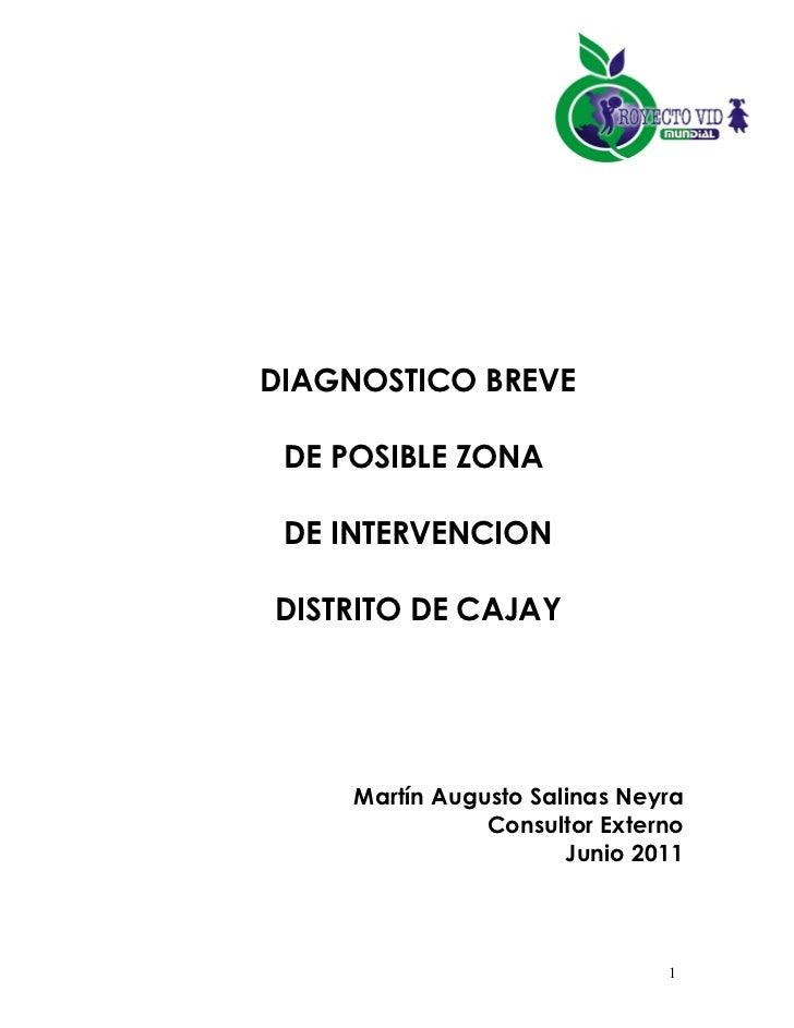 Diagnostico breve de cajay