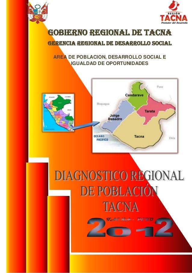 DIAGNOSTICO POBLACIONAL REGIONAL DE TACNA
