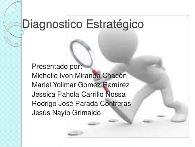 Diagnostico Estratégico Presentado por: Michelle Ivon Miranda Chacón Mariel Yolimar Gomez Ramírez Jessica Pahola Carrillo ...