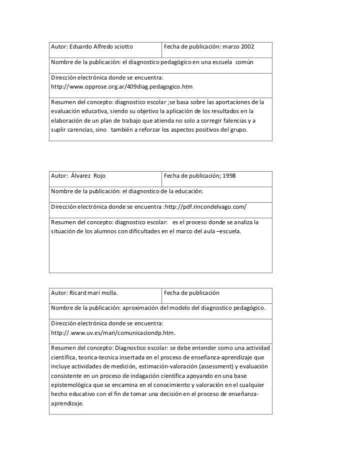 Diagnostico pedagogico