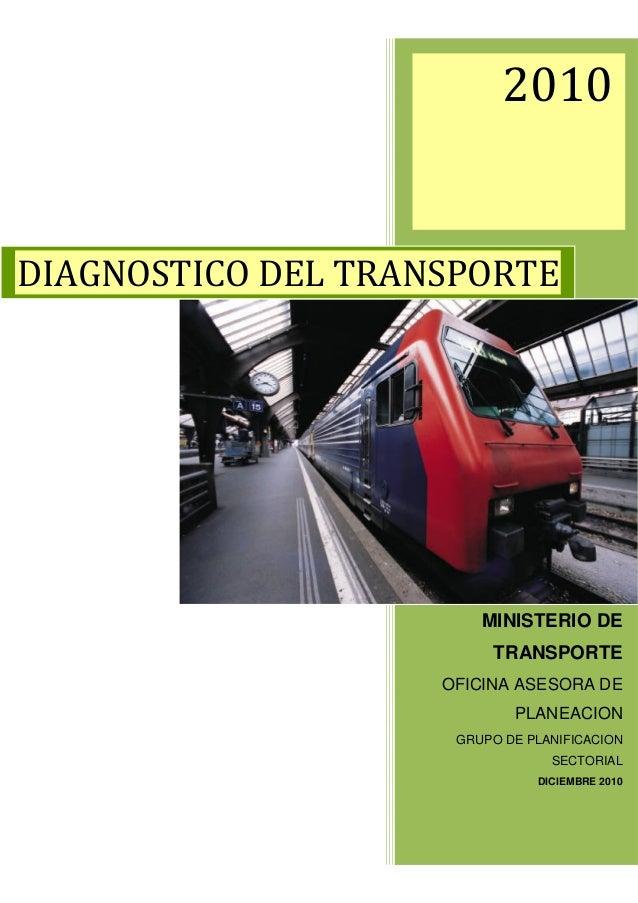MINISTERIO DE     TRANSPORTEOFICINA ASESORA DE        PLANEACION GRUPO DE PLANIFICACION             SECTORIAL           DI...