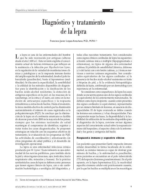 Diagnóstico y tratamiento de la lepra                                                                             ACTUALIZ...