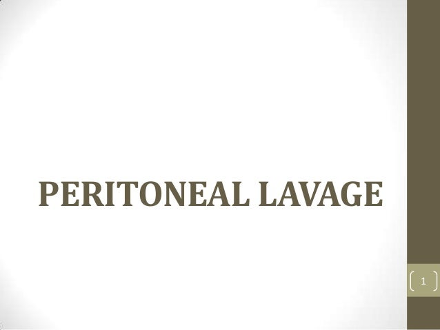 Diagnostic peritoneal lavage gk