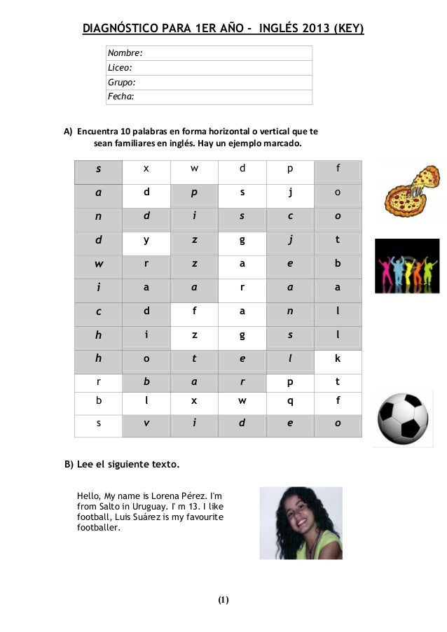 Diagnostic test for 1st year cb 2013 key (1)
