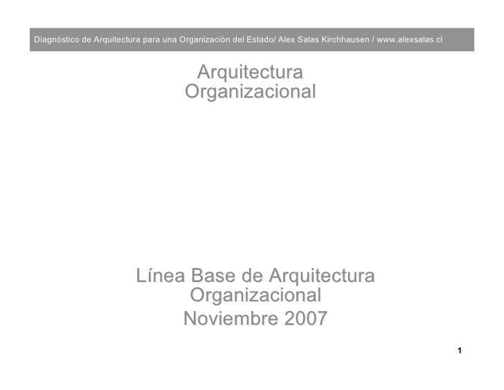 Diagnóstico de Arquitectura para una Organización del Estado/ Alex Salas Kirchhausen / www.alexsalas.cl                   ...