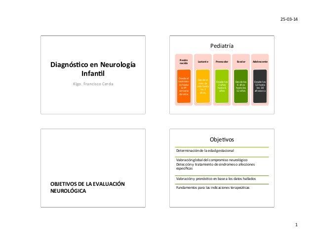 25-‐03-‐14   1   Diagnós(co  en  Neurología   Infan(l   Klgo.  Francisco  Cerda   Pediatría   Recién...