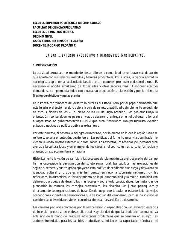 ESCUELA SUPERIOR POLITÉCNICA DE CHIMBORAZO FACULTAD DE CIENCIAS PECUARIAS ESCUELA DE ING. ZOOTÉCNICA DÉCIMO NIVEL ASIGNATU...