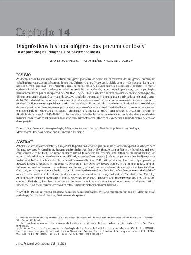 Diagnósticos histopatologicos das pneumoconioses