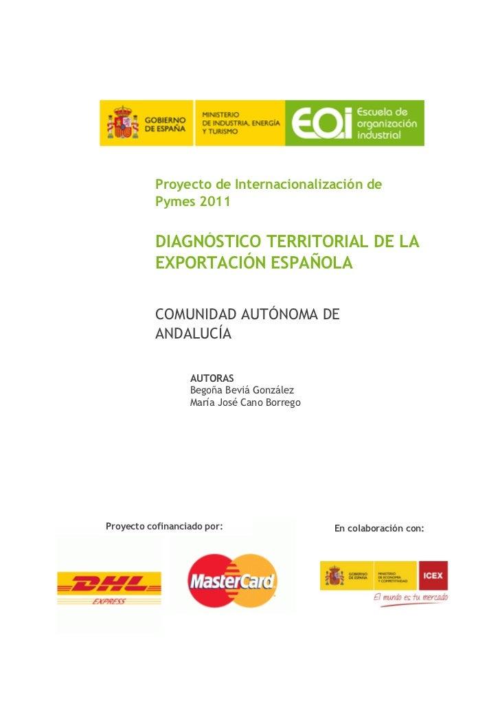 Diagnóstico territorial de la exportación Andalucía