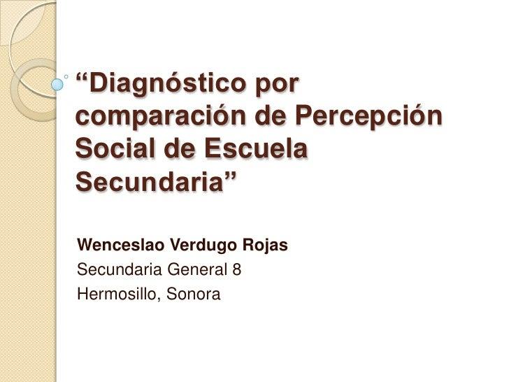Diagnóstico  por comparación