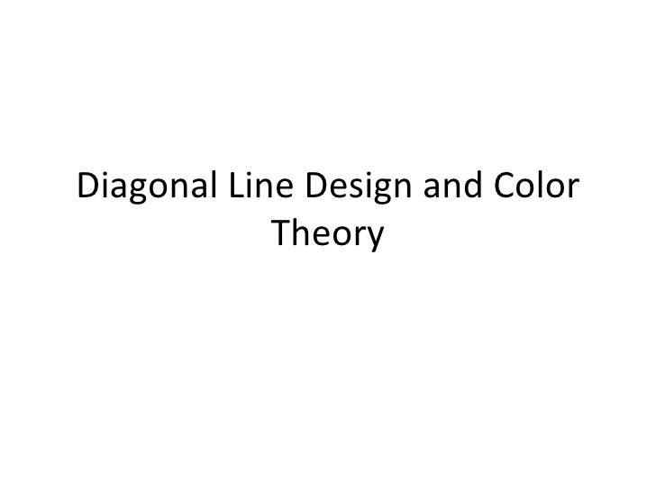 Diagonal Line Design : Diagonal line design and color theory