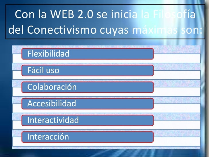 Herramientas Con Filosofia Web 2.0 Con la Web 2.0 se Inicia la