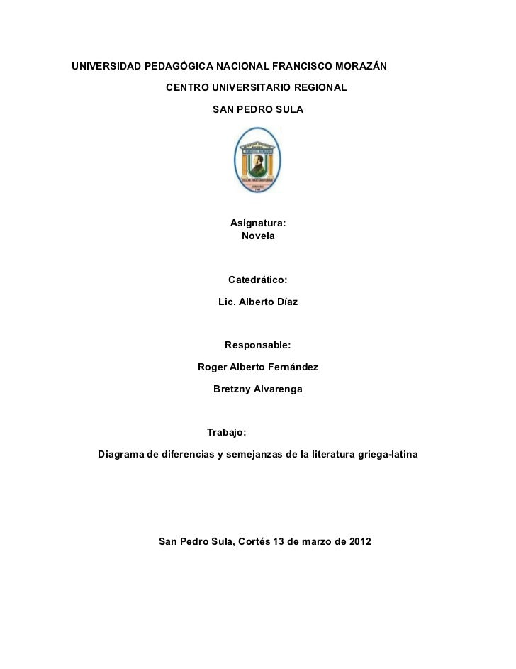 UNIVERSIDAD PEDAGÓGICA NACIONAL FRANCISCO MORAZÁN                  CENTRO UNIVERSITARIO REGIONAL                          ...
