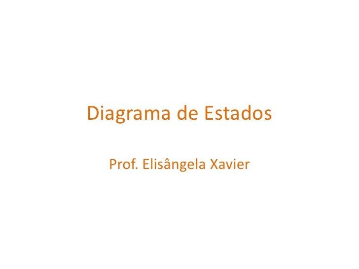 Diagrama de Estados<br />Prof. Elisângela Xavier<br />