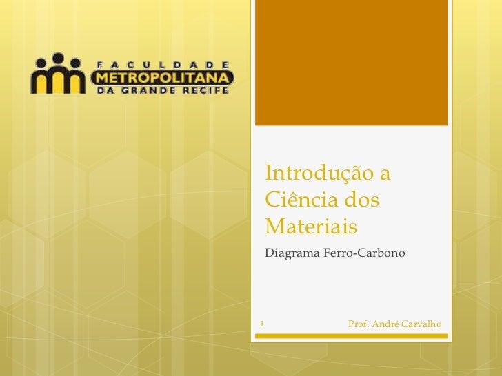 Introdução a    Ciência dos    Materiais    Diagrama Ferro-Carbono1                Prof. André Carvalho