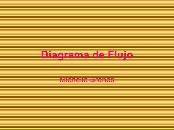 Diagrama de Flujo Michelle Brenes