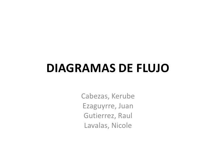 DIAGRAMAS DE FLUJO<br />Cabezas, Kerube<br />Ezaguyrre, Juan<br />Gutierrez, Raul<br />Lavalas, Nicole<br />