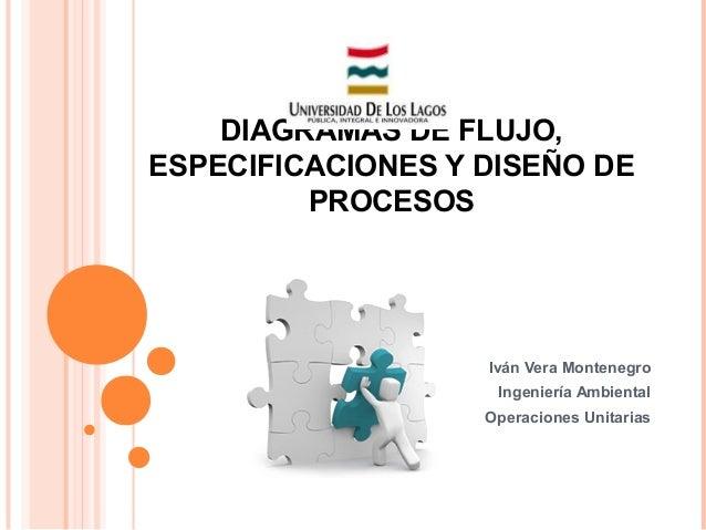 Diagramas de flujo, especificaciones y diseño de procesos