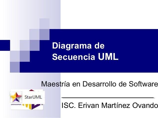 Diagrama de Secuencia UML Maestría en Desarrollo de Software ISC. Erivan Martínez Ovando