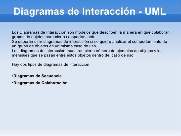 interaccion uml: