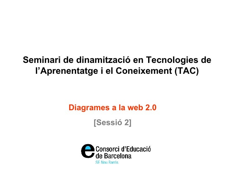 Seminari de dinamització en Tecnologies de l'Aprenentatge i el Coneixement (TAC) Diagrames a la web 2.0 [Sessió 2]