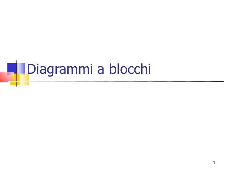 Diagrammi a blocchi                      1