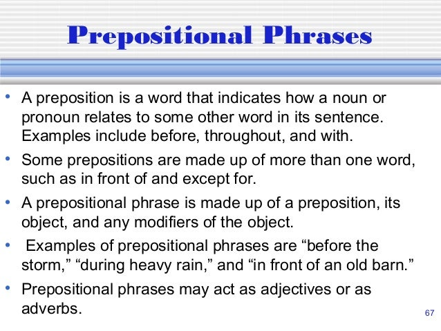 time and compound prepositions examples Overview prepositions are used to indicate a relationship between two words, linking them together these words usually show location, direction, or time as preposition suggests, these words precede the word or words it links.