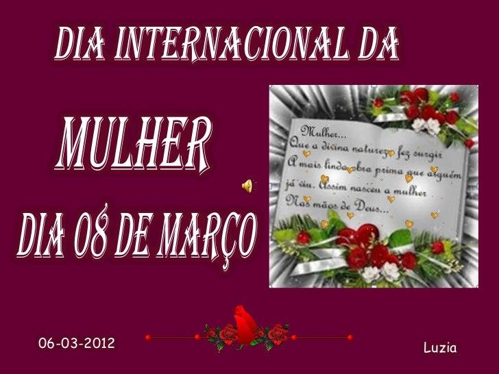 Dia internacional da mulher 2012