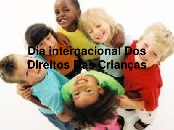 Dia internacional DosDireitos Das Crianças