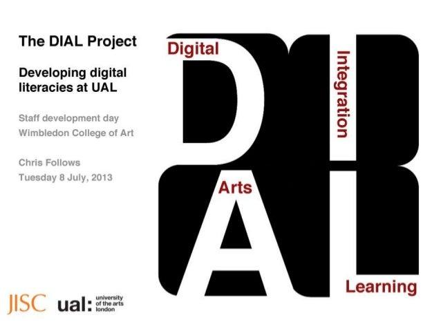 WCA staff development day DIAL presentation