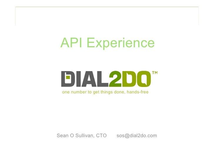 Dial2Do API