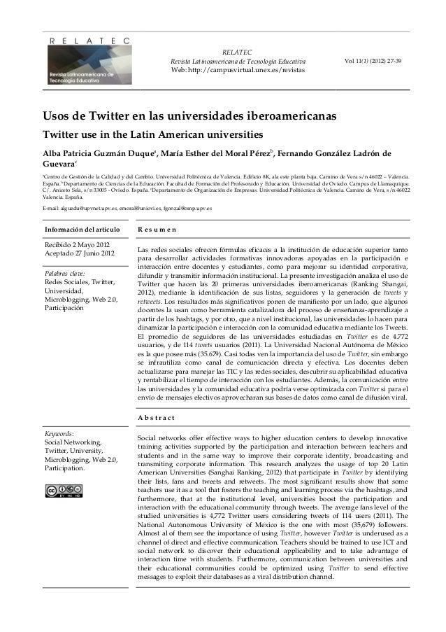 RELATEC RevistaLatinoamericanadeTecnologíaEducativa Web:http://campusvirtual.unex.es/revistas Vol11(1)(2012)2739...