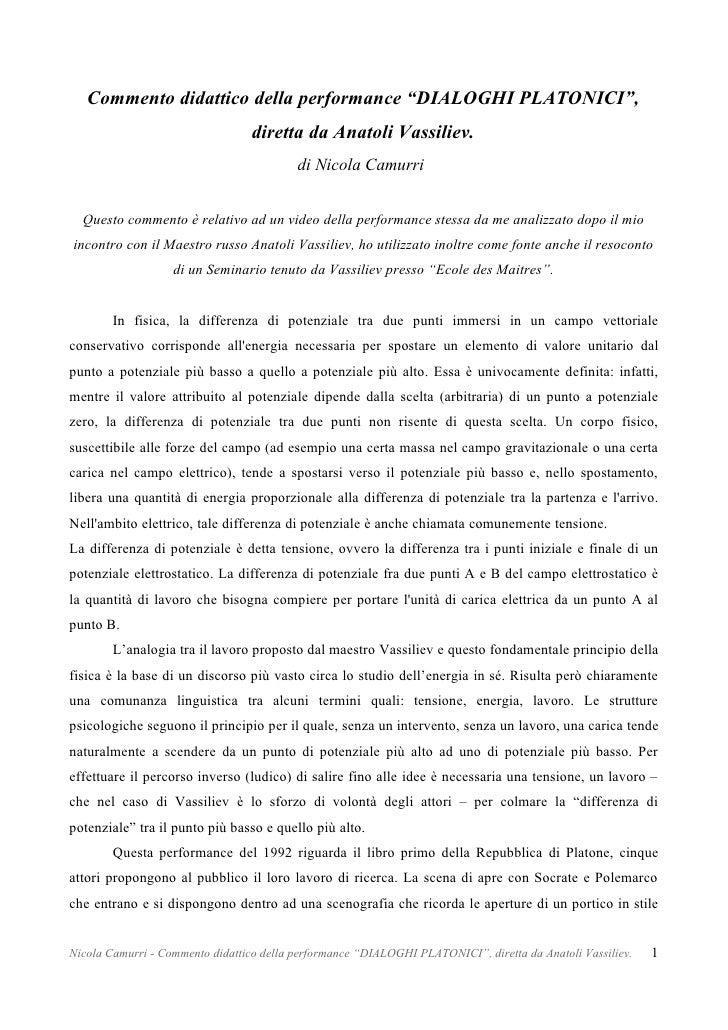 Dialoghi Platonici - Anatoli Vassiliev