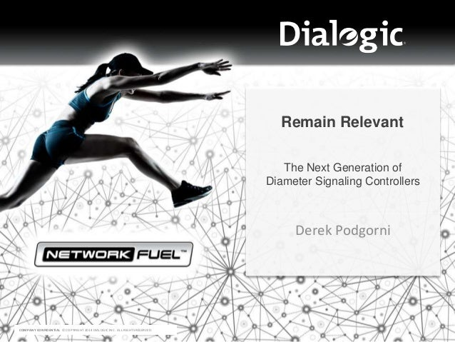 COMPANY CONFIDENTIAL © COPYRIGHT 2014 DIALOGIC INC. ALL RIGHTS RESERVED. Derek Podgorni Remain Relevant The Next Generatio...