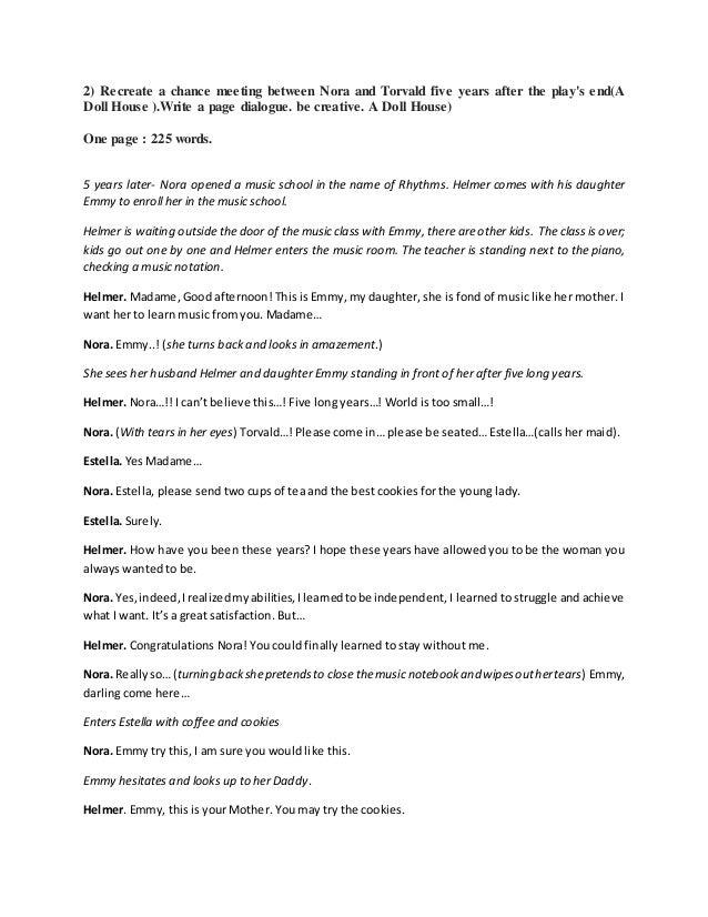 Write my a doll's house essay