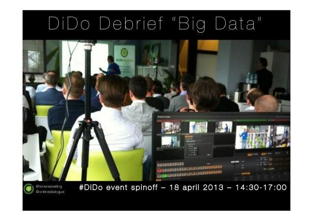Dialogue Donderdag #12 debrief - big data