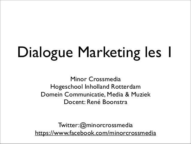 Dialogue marketing les 1