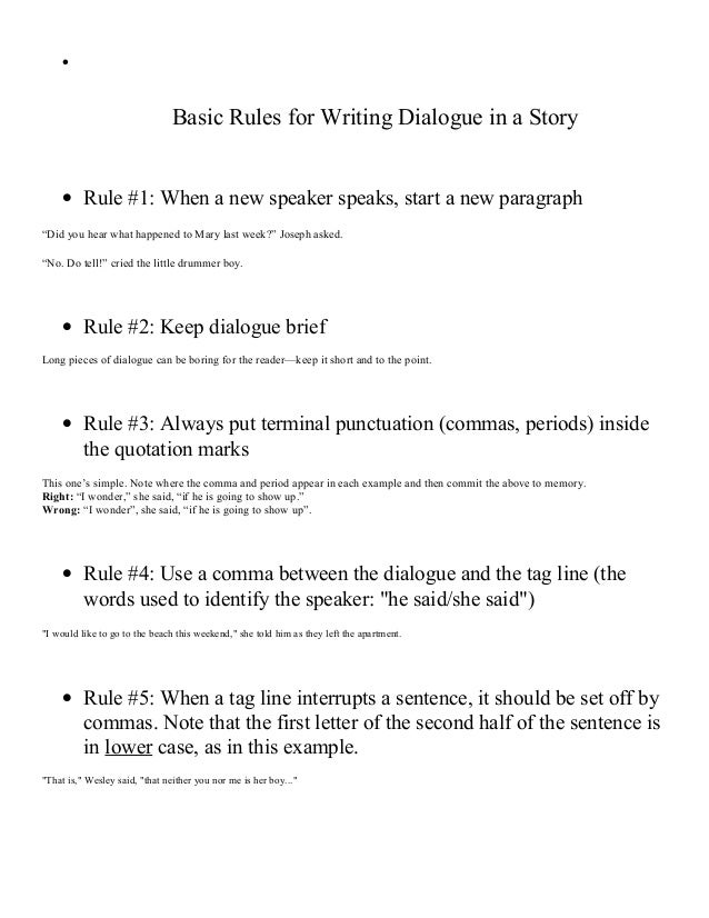 Essay with dialogue
