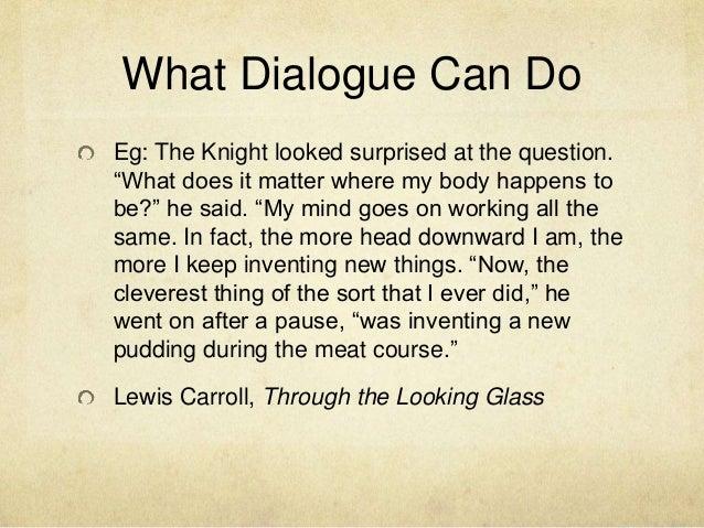 Dialogue creative writing