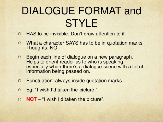 How to write in dialogue format