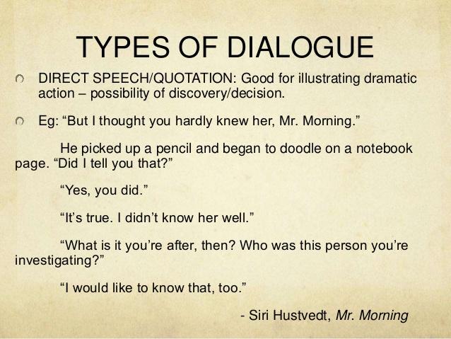 creative writing speech