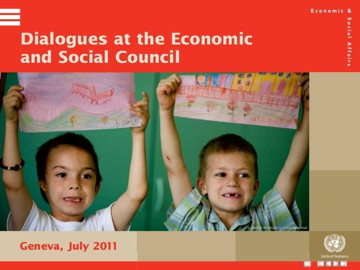 Dialogues at the UN Economic and Social Council 2011