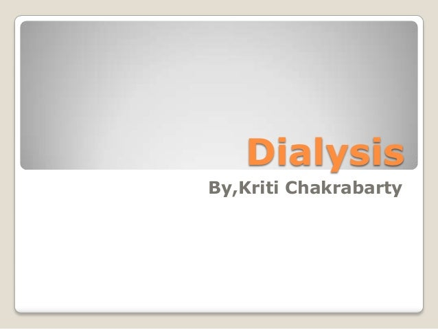 DialysisBy,Kriti Chakrabarty