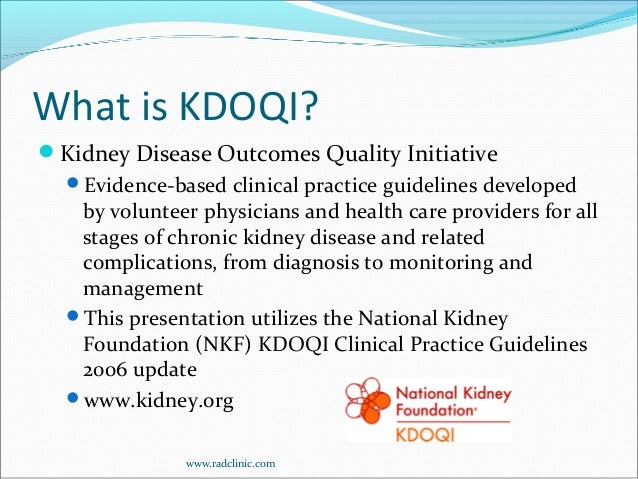 Management of chronic kidney disease in adults