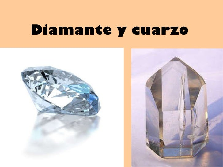 Diamante y cuarzo