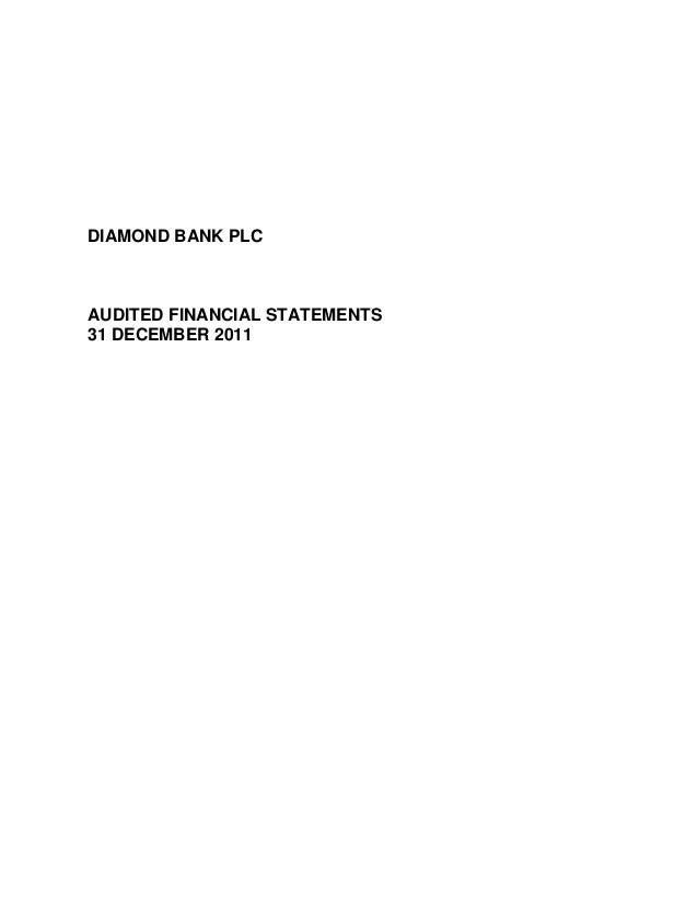 Diamond Bank Annual Report 2011