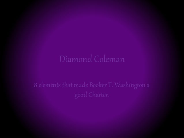 Diamond Coleman 8 elements that made Booker T. Washington a good Charter.