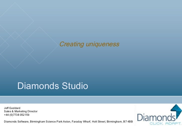 Diamonds Studio Presentation   Feb 2011