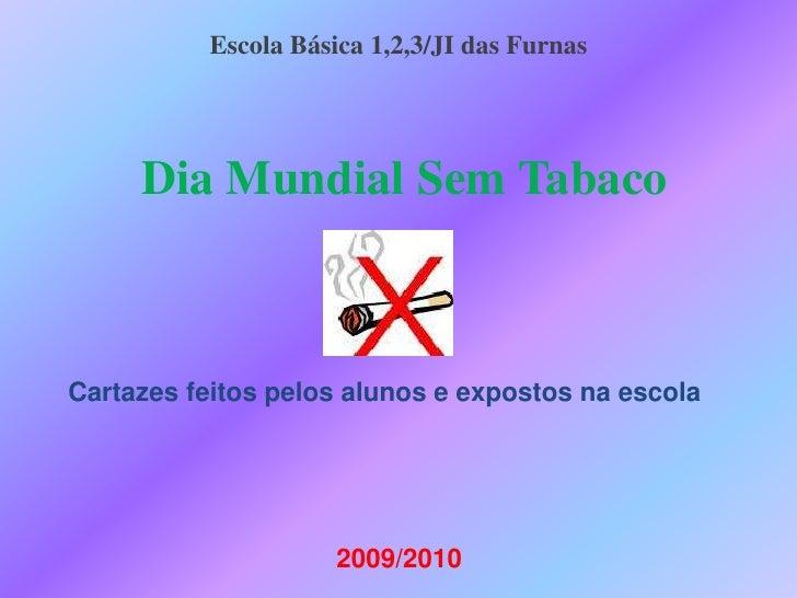 EscolaBásica 1,2,3/JI das Furnas <br />Dia Mundial Sem Tabaco<br />Cartazes feitos pelos alunos e expostos na escola<br />...